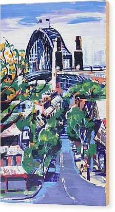 Sydney Daylight Wood Print by Shirley  Peters