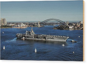 Sydney Harbor Wood Print by John Swartz