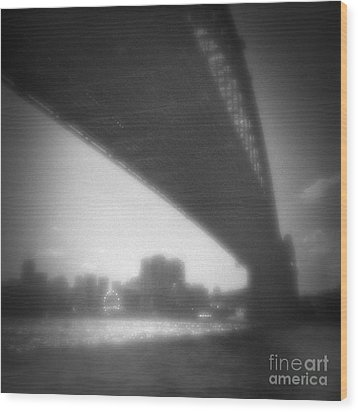 Sydney Harbour Bridge And North Sydney Wood Print by Colin and Linda McKie