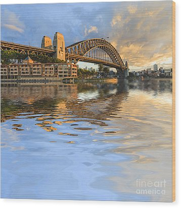 Sydney Harbour Bridge Australia Spectacular Early Morning Light Wood Print by Colin and Linda McKie