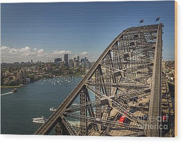 Sydney Harbour Bridge Wood Print by Jola Martysz