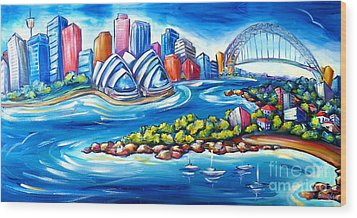 Sydney Harbour Wood Print