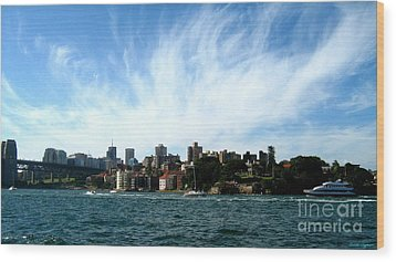 Wood Print featuring the photograph Sydney Harbour Sky by Leanne Seymour