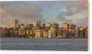 Sydney Town Houses Wood Print by DerekTXFactor Creative