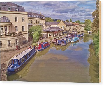 Sydney Wharf Bath Wood Print by Paul Gulliver