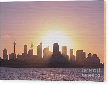 Wood Print featuring the photograph Sydney's Evening by Jola Martysz