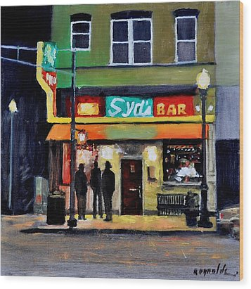 Wood Print featuring the painting Syd's Bar by John Reynolds