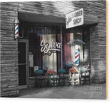 Sylva Barber Shop - 2008 Wood Print