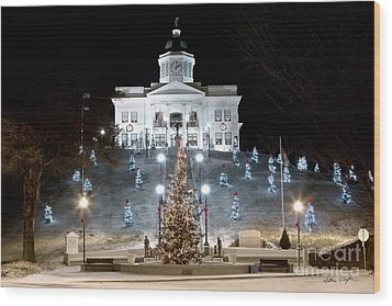 Sylva Courthouse 2012 Wood Print