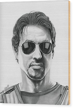 Sylvester Stallone - The Expendables Wood Print by Fred Larucci