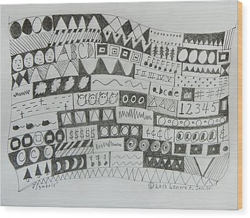Symbols Wood Print by Lenore Senior