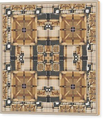 Symmetrica 315 Wood Print by Nedunseralathan R
