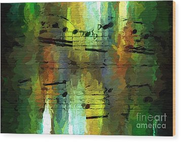 Wood Print featuring the digital art Forest Figures by Lon Chaffin
