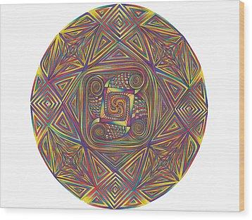 Symmetry Four Wood Print by diNo