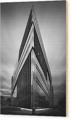 Symmetry Wood Print by Marc Huebner