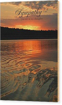 Sympathy Card Wood Print