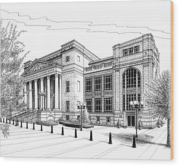 Symphony Center In Nashville Tennessee Wood Print by Janet King