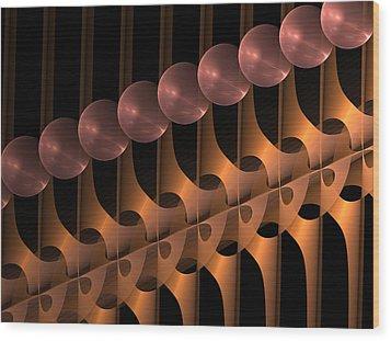 Wood Print featuring the digital art Symphony by Gabiw Art