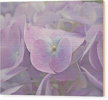 Symphony In Purple Wood Print by Kim Hojnacki