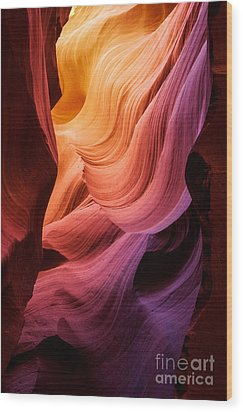 Symphony In Stone Wood Print by Inge Johnsson