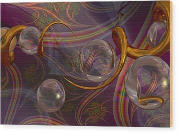 Synapse Wood Print by Roger Pearce