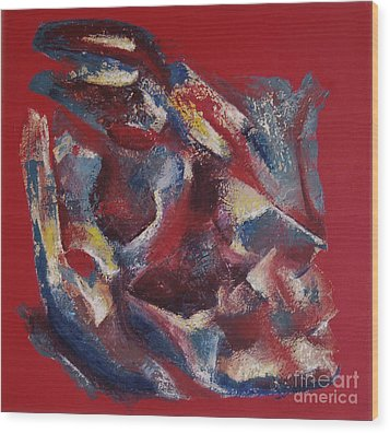 Wood Print featuring the painting Syncopation by Mini Arora