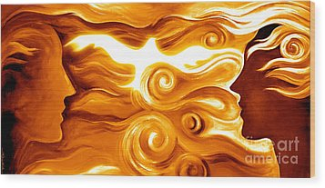 Synergy In Love Wood Print by Gem S Visionary