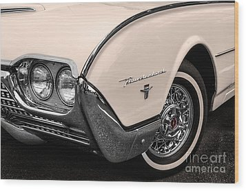 T-bird Fender Wood Print by Jerry Fornarotto