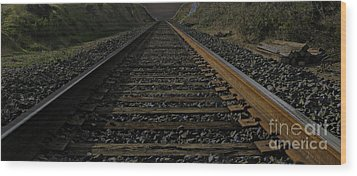 Wood Print featuring the photograph T Rails by Janice Westerberg