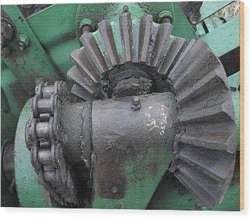 T14 John Deere Baler Gear Wood Print
