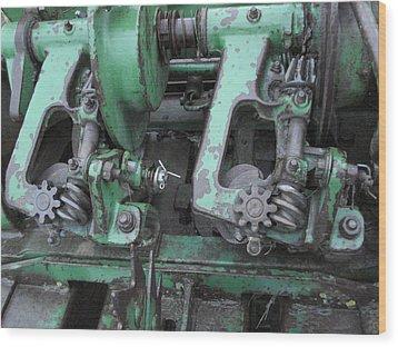 Wood Print featuring the painting T14 John Deere by J L Zarek