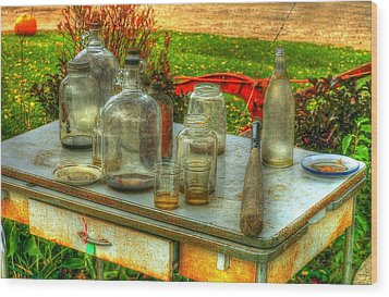 Table Collections Wood Print by Randy Pollard
