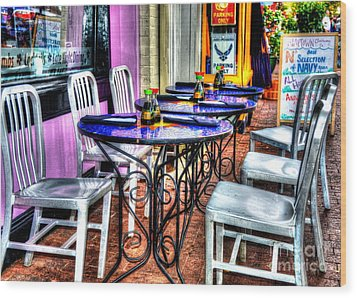 Table For Six Wood Print by Debbi Granruth