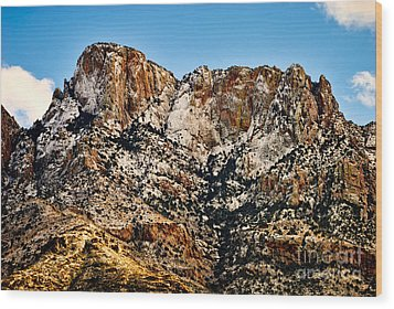 Wood Print featuring the photograph Table Mountain In Winter 42 by Mark Myhaver