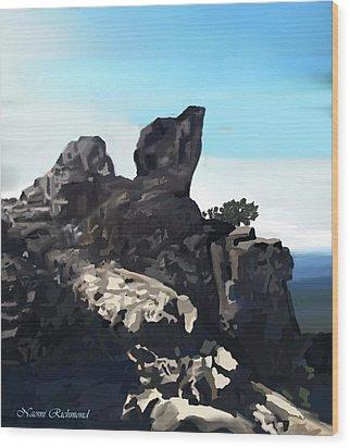 Table Rock Calistoga California Wood Print by Naomi Richmond