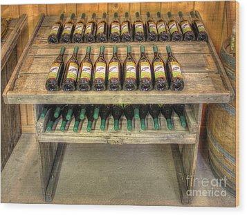 Table Wine Wood Print