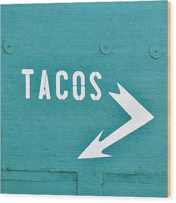 Tacos Wood Print by Art Block Collections