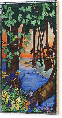 Tahiti Window Wood Print by Peter Piatt
