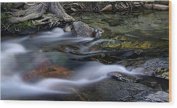 Tahoe Eagle River Wood Print by Dave Dilli