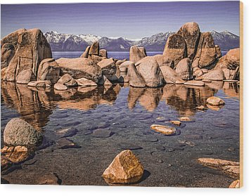 Wood Print featuring the photograph Tahoe Reflections by Steven Bateson