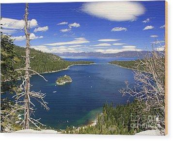 Tahoe's Emerald Bay Wood Print