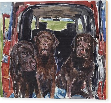 Tailgaters Wood Print by Molly Poole