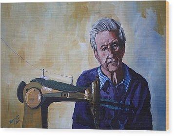 Tailor From Tel-aviv Wood Print by Marwan  Khayat