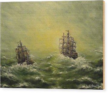 Tailwind Wood Print by Svetla Dimitrova