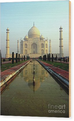 Wood Print featuring the photograph Taj Mahal by Jacqi Elmslie