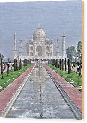 Taj Mahal Wood Print by Kim Bemis