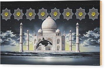 Taj Wood Print by Scott Ross