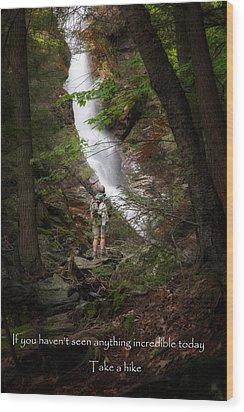 Take A Hike Wood Print by Bill Wakeley