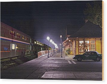 Take A Ride On Amtrak Wood Print
