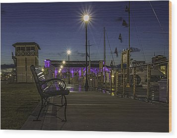Take A Seat And Enjoy The View Wood Print by Brian Wright